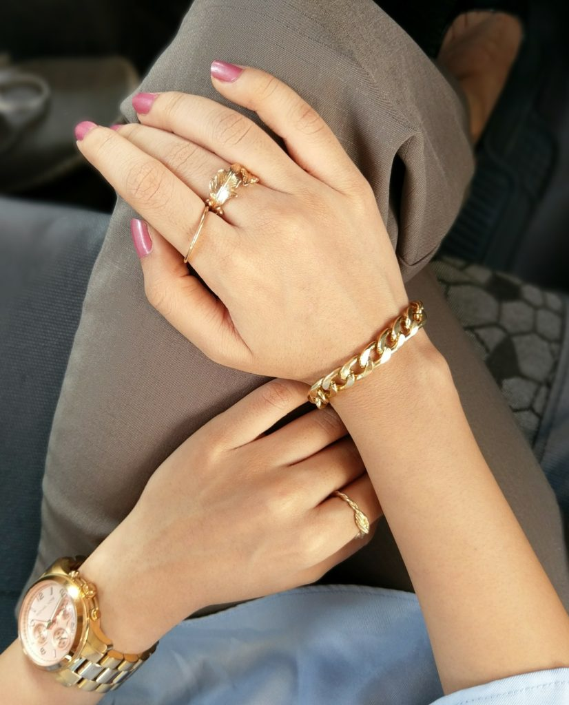 Michael kors watch, rose gold jewellery, jewelry, gold chain bracelet, arm candy, fashion jewels