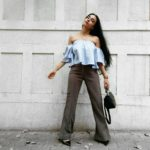 Off Shoulder Top & Flared Pants