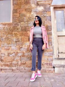 shein, shein india, neha menghwani, millennial pink, pink leather jacket, leather jacket, moto jacket, pink suede jacket, street style, mumbai fashion blogger, fashion blogger, vsco pink theme, fall fashion, winter fashion, fashion week