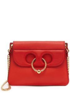 bag dupes, luxury bags, j w anderson bag, pierce bag, koovs , red bag, pierce bag, it bag, fashion week, street style, designer bag,